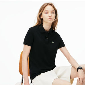 Lacoste Short Sleeve Polo Shirt - Black